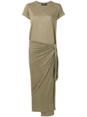 Платье макси короткое - зеленое Polo Ralph Lauren