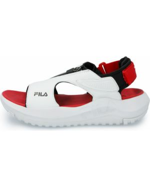 Белые спортивные сандалии на молнии Fila