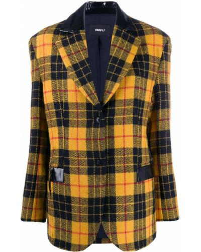 Пиджак черный в полоску Yang Li