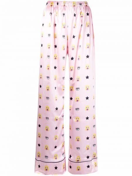 Satynowa piżama - różowa Chiara Ferragni