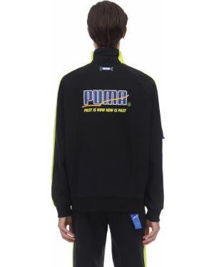 Prążkowana czarna kurtka klamry Puma Select