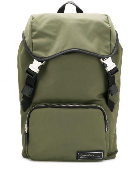 Кожаный рюкзак - зеленый Calvin Klein