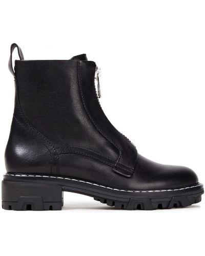 Czarne ankle boots skorzane Rag & Bone