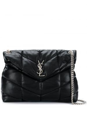 Czarna torebka na łańcuszku skórzana elegancka Saint Laurent