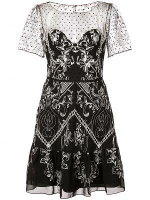 Платье мини короткое - черное Marchesa Notte