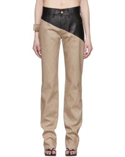 Прямые белые джинсы с карманами Bottega Veneta