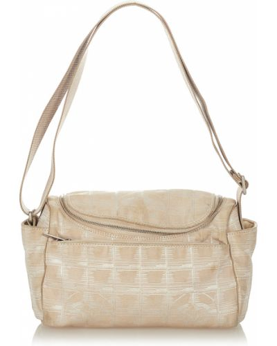Brązowa torebka z nylonu Chanel Vintage