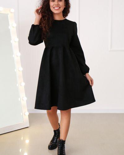 Платье макси длинное - черное Fashion Girl