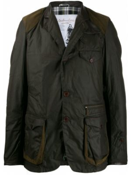 Długa kurtka z guzikami kurtka Barbour
