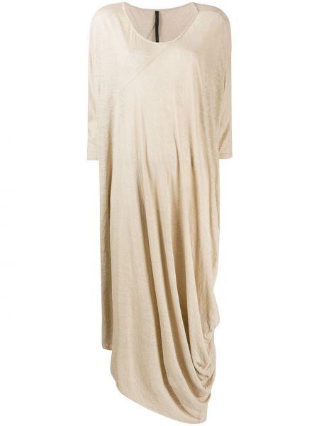 Асимметричное платье миди с оборками с вырезом круглое Poème Bohémien