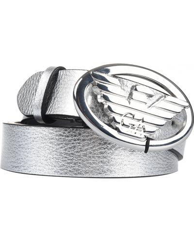 Ремень серебряного цвета Emporio Armani