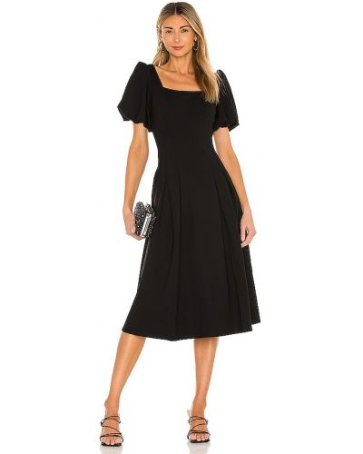 Деловое трикотажное черное платье миди Elliatt