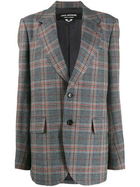 Черный удлиненный пиджак оверсайз с карманами Junya Watanabe