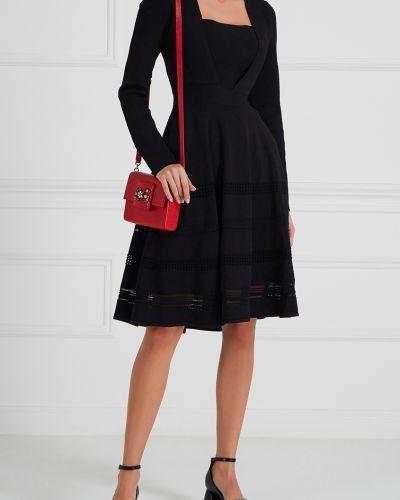 Платье мини облегающее с V-образным вырезом Carven
