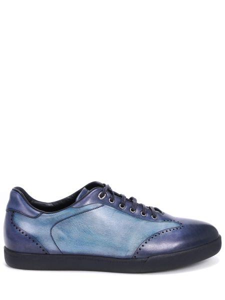 Синие кожаные классические классические туфли с декоративной отделкой Franceschetti
