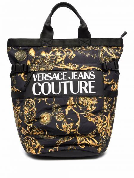Plecak z printem - czarny Versace Jeans Couture
