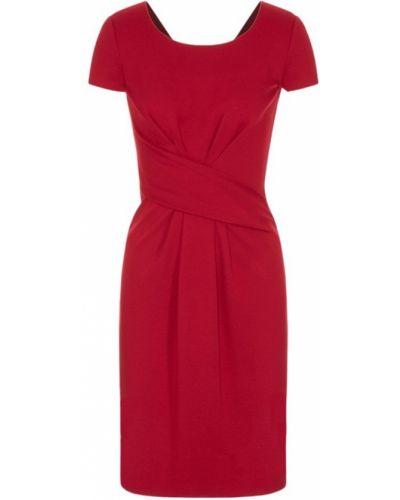 Czerwona sukienka krótki rękaw Emporio Armani