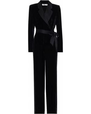 Комбинезон вечерний бархатный черный Diane Von Furstenberg