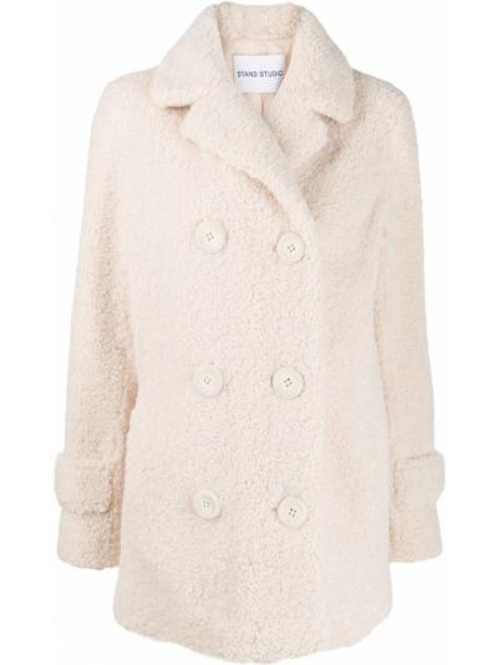 Пальто на пуговицах с капюшоном Stand
