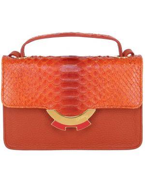 Pomarańczowa torebka mini skórzana Patricia Al'kary