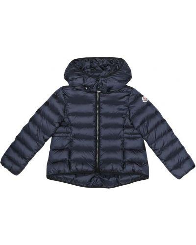 Пальто с капюшоном плюшевое био пух Moncler Enfant