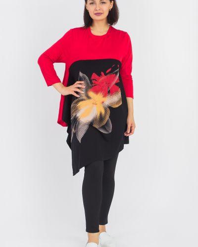Блузка с кокеткой красная Lacywear