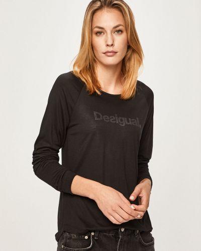 Черный спортивная футболка с декольте Desigual Sport