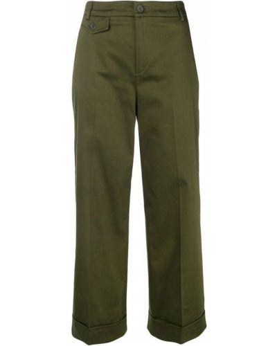 Свободные брюки с карманами зеленый Liu Jo