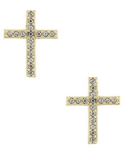 Łączny markowe krzyż złoto ze skałami Bracha