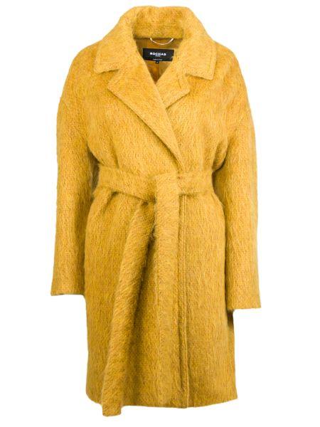 Пальто из альпаки - желтое Rochas