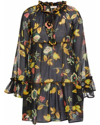 Хлопковое платье мини - черное Anjuna