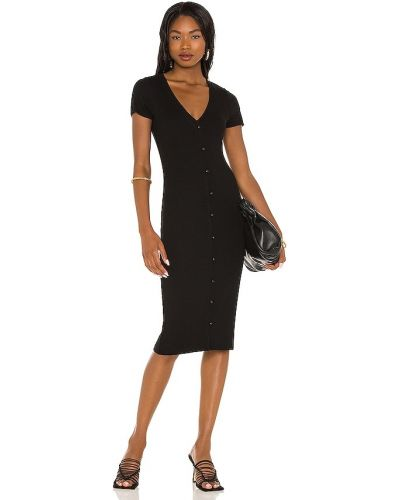 Черное кожаное платье Lna