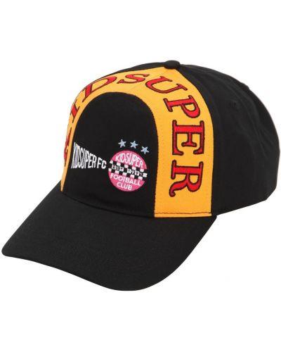 Czarny kapelusz bawełniany z haftem Kidsuper Studios