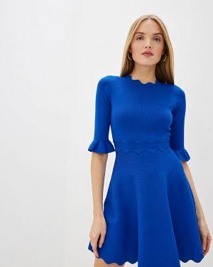 Повседневное платье осеннее синее Ted Baker London