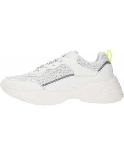 Кожаные белые кроссовки на шнуровке Gsd