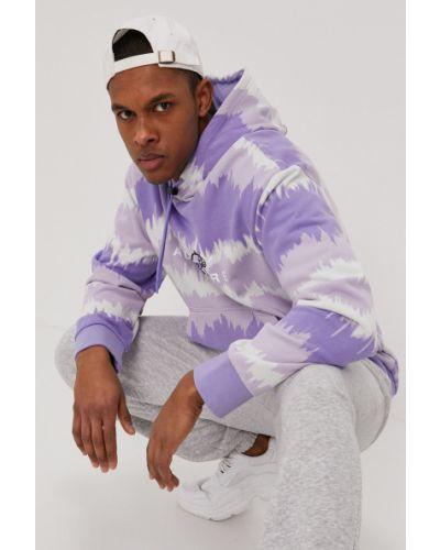 Fioletowa bluza z kapturem bawełniana Adidas Originals