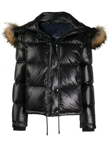 Куртка с капюшоном - черная Fay
