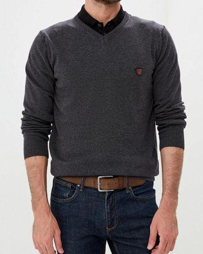 Пуловер серый желтый Jimmy Sanders