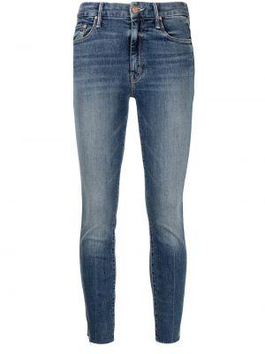 Синие облегающие джинсы Mother