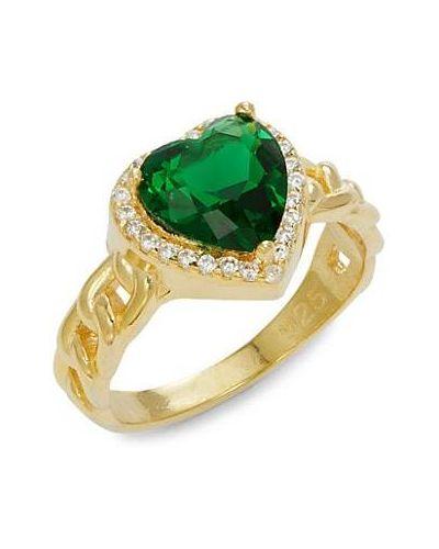 Żółty złoty pierścionek szmaragd Gabi Rielle