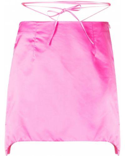 Z paskiem różowy asymetryczny spódnica mini Helmut Lang