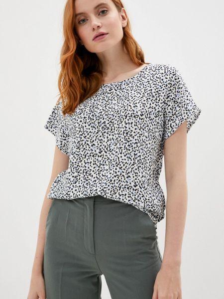 Серая блузка с коротким рукавом Defacto