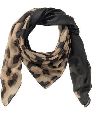 Платок леопардовый черный Bonprix