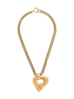 Wisiorka ze złota metal złoto pozłacany Chanel Pre-owned