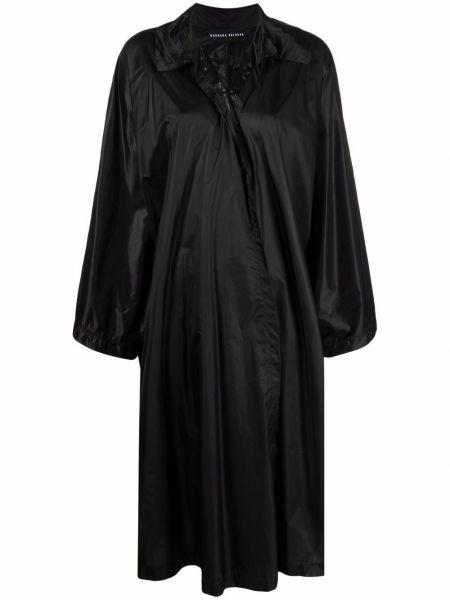 Асимметричное черное пальто классическое с воротником Barbara Bologna
