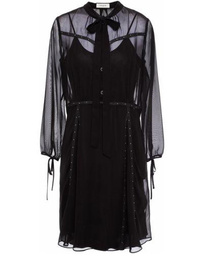 Шифоновое платье - черное Coach