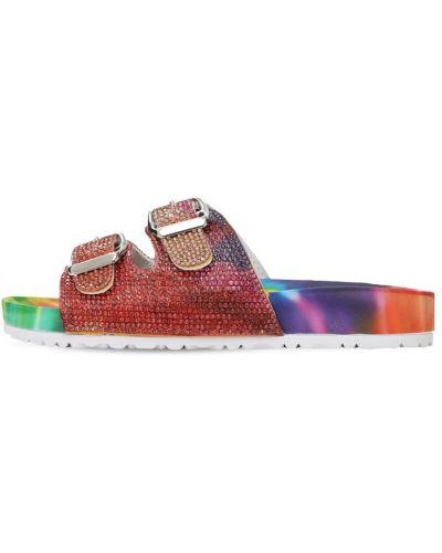 Красные кожаные с ремешком сандалии Colors Of California