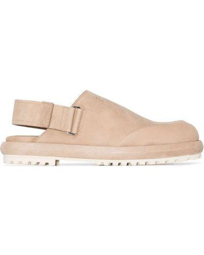 Sandały skórzane - brązowe Jacquemus
