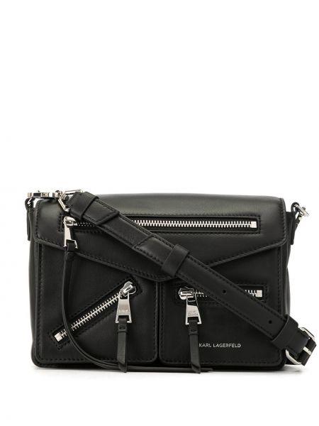 Кожаная сумка через плечо маленькая Karl Lagerfeld