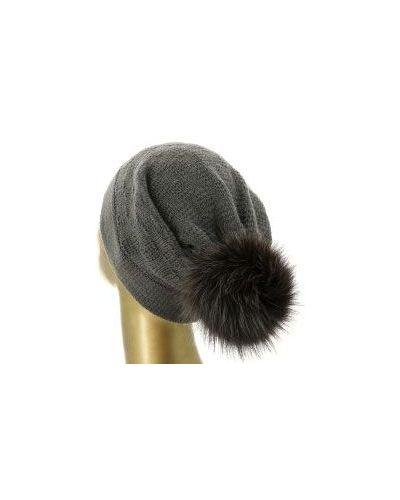 Коричневая шапка Fedeli